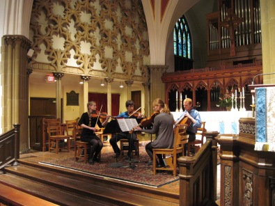 The Mifflin String Quartet. Photo by Kenn Jeschonek.