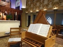 17th Century Flemish Harpsichord. Photo by Kenn Jeshonek.